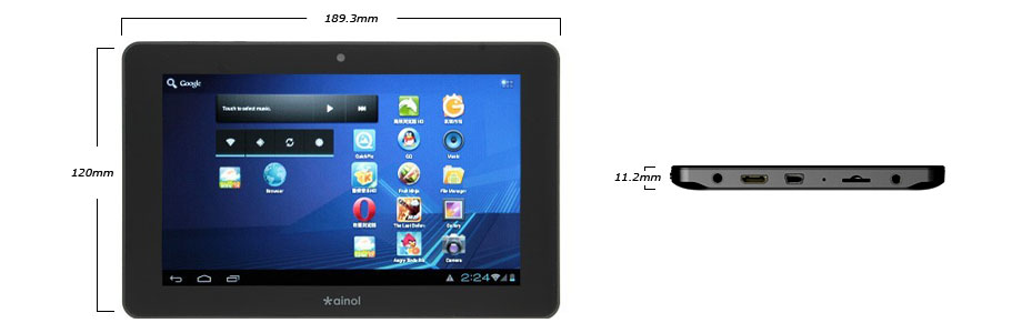 Prezentare tableta NOVO7 Elf